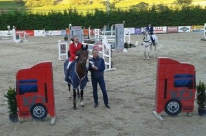 Sieger des Predinger Frühjahrs Grand Prix Bernhard Maier  mit Sponsor Konrad Pistolnig